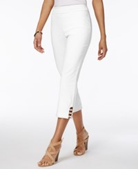 Jm Collection Pull On Lattice Inset Capri Pants Only At Macy's Bright White