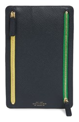 Smythson Women's Panama Leather Currency Case