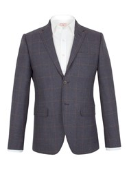 Racing Green Hughes Herringbone Tailored Jacket Blue