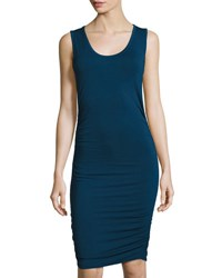 1.State Side Ruched Jersey Tank Dress Navy