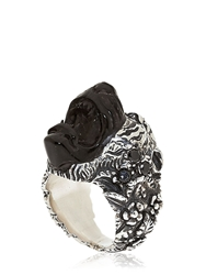 Kd2024 Hand Carved Tiger Ring Black Onyx