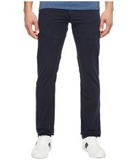 Lacoste Cotton Twill Stretch Five Pocket Slim Fit Trousers Navy Blue Dyed Men's Casual Pants
