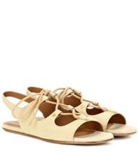 Chloe Foster Suede Sandals Yellow