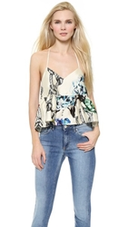 Tibi Tattoo Gazaar Top Cream Multi