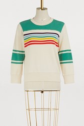 Mother The Matchbox Striped Sweatshirt Rainbows Ever After