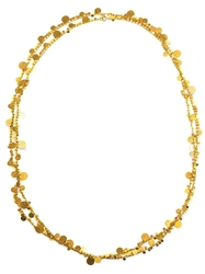 Marie Helene De Taillac 18Kt Yellow Gold Disc Necklace Metallic
