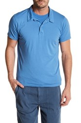 Save Khaki Short Sleeve Jersey Polo Blue