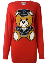 Moschino Toy Bear Jumper Red