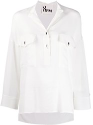 8Pm Loose Fit Blouse White