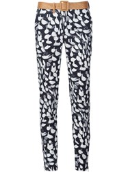 Sophie Theallet Animal Print Slim Fit Trousers Black