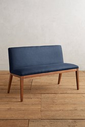 Anthropologie Linen Emrys Bench Navy