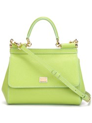 Dolce And Gabbana Small 'Sicily' Tote Green