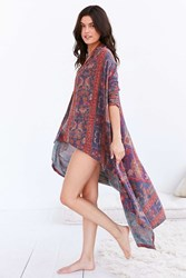 Out From Under Roam Wander Cardigan Maroon
