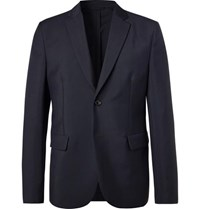 Acne Studios Navy Antibes Unstructured Wool And Mohair Blend Blazer Navy