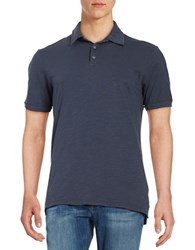 Velvet By Graham And Spencer Short Sleeve Slub Polo Oasis