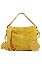 Acne Studios Leather Trimmed Suede Tote Mustard