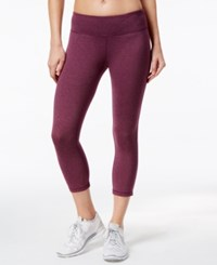 Ideology Melange Capri Leggings Only At Macy's Sweet Fig