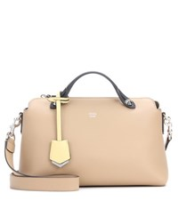 Fendi By The Way Small Leather Tote Beige