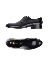 Galliano Footwear Lace Up Shoes Black