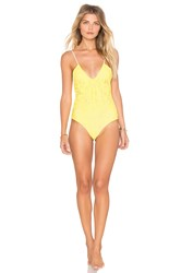 Lolli Swim Kisses Shirred One Piece Yellow