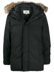 Pyrenex Raccoon Trim Padded Parka Black