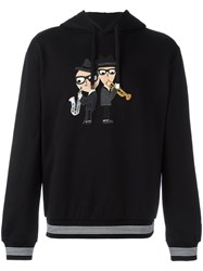 Dolce And Gabbana Designer's Patch Hoodie Black