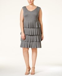 Styleandco. Style Co. Plus Size Sleeveless Tiered Dress Only At Macy's Medium Grey Heather