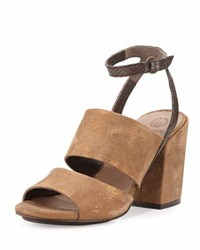 Coclico Dickie Suede Chunky Heel Sandal Bronze