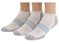 Thorlos 84N Micro Mini 3 Pair Pack White Pale Blue Women's Low Cut Socks Shoes