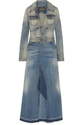 Roberto Cavalli Strech Denim Coat Mid Denim