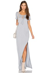 Lanston Caftan Shirt Maxi Dress Grey