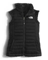 The North Face Girls' Reversible Mossbud Vest Black