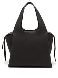 The Row Tr1 Large Grained Leather Bag Black