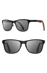 Shwood Women's 'Canby' 54Mm Titanium And Wood Sunglasses