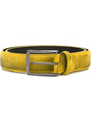 Al Duca Da Aosta 1902 Distressed Belt Yellow And Orange