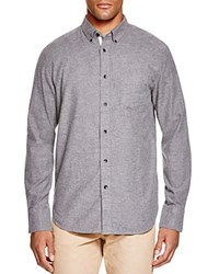 Rag And Bone Standard Issue Lightweight Flannel Regular Fit Button Down Shirt Dark Gray