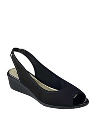 Anne Klein Jayla Wedge Slingbacks Black