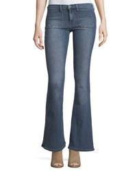 Etienne Marcel Molly Low Rise Flared Jeans Indigo