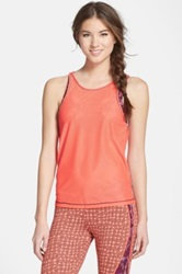 Maaji 'Pistil Missive' Tank Top With Sports Bra Orange