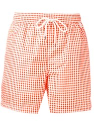 Polo Ralph Lauren Checked Swim Shorts White