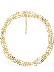 Iosselliani 18Kt Gold Plated Chain Wrap Necklace