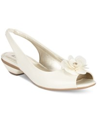 Anne Klein Lesta Slingback Dress Pumps Ivory