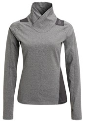 Gore Running Wear Sunlight Lady Long Sleeved Top Raven Brown Dark Grey