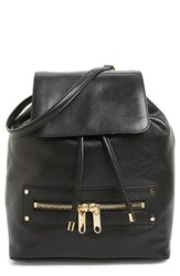 Milly 'Riley' Leather Backpack Black