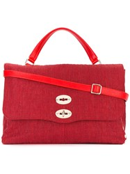 Zanellato Double Fastening Tote Bag Red