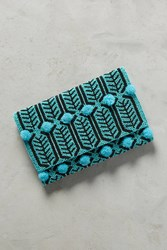 Anthropologie Tara Beaded Clutch Turquoise