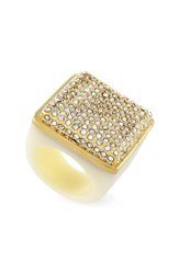 Women's Vince Camuto Pave Resin Ring Gold Ivory