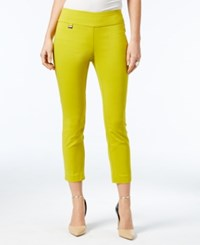 Alfani Tummy Control Pull On Capri Pants Only At Macy's Luxe Lime