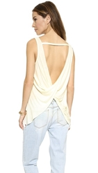 Haute Hippie Sexy Tank With Back Twist Swan