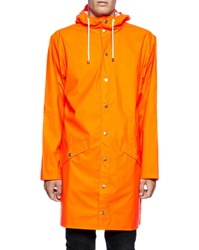 Rains Orange Hooded Waterproof Jacket